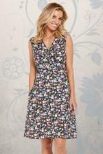 New Jaya Cotton  Dress - Kanji Print