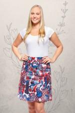 Melissa A-Line Cotton Skirt - Kyoto Print