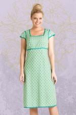 Sophie Dress - Green Daisy Print