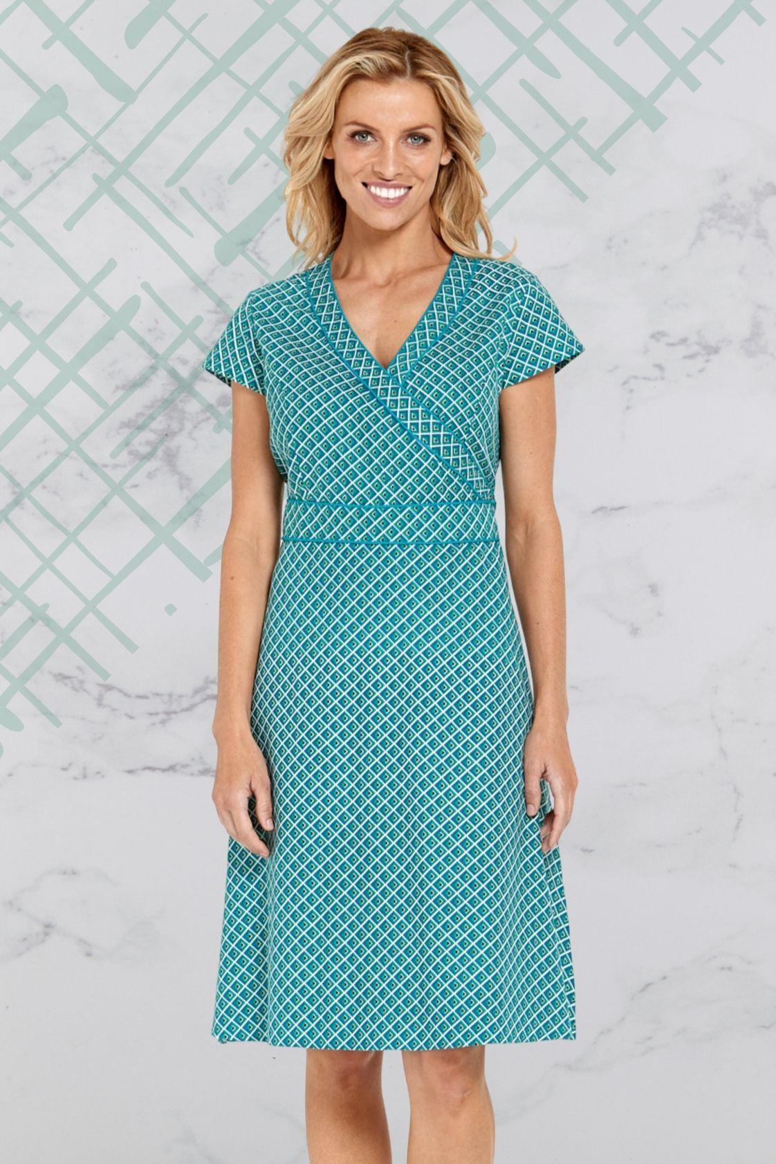 Astrid Cotton Wrap Dress - Rio Print
