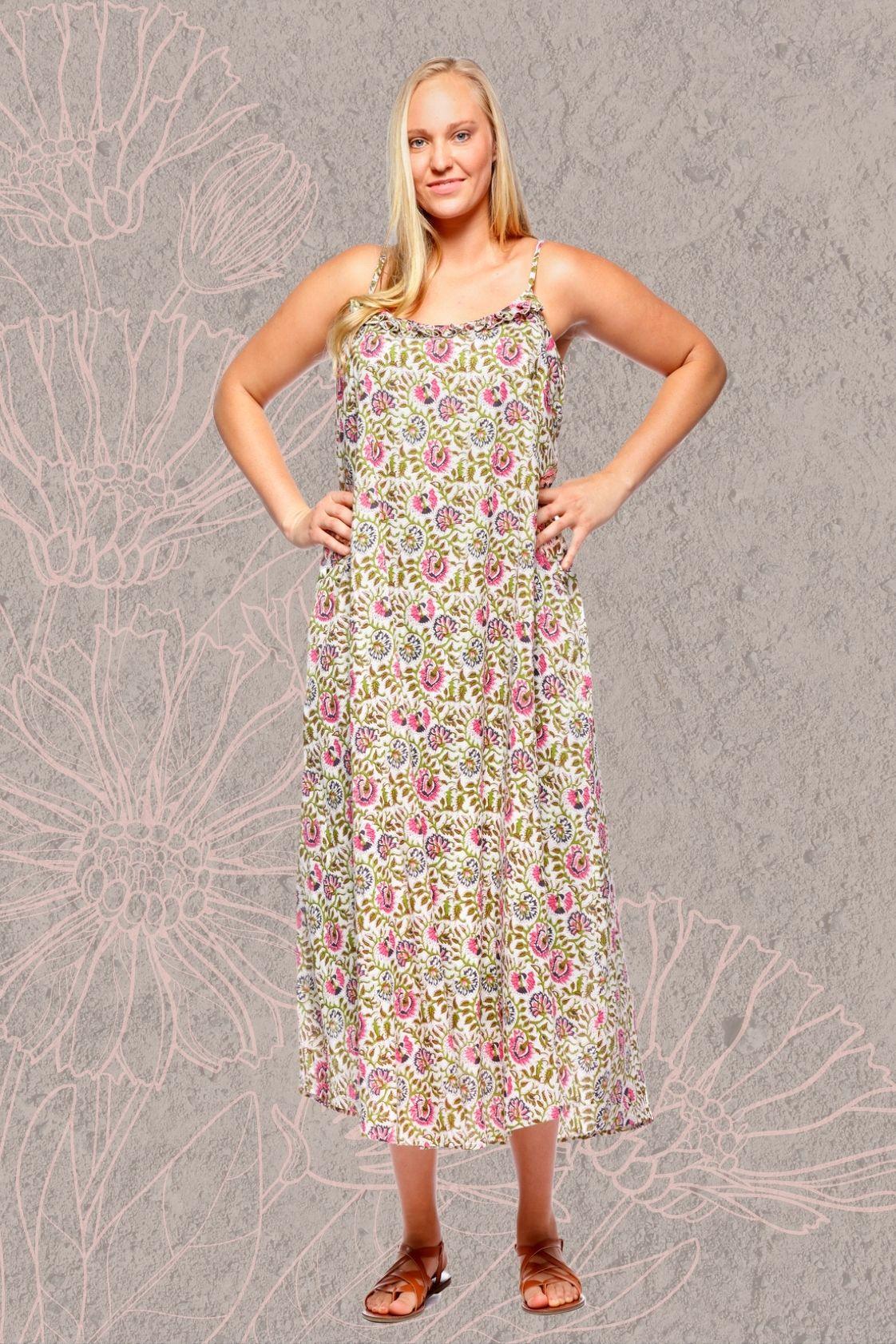 Diana Cotton Voile Maxi Dress - Udaipur Print
