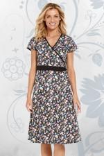 Leela Cotton Wrap Dress - Kanji Print