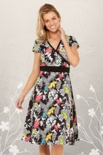Leela Cotton Wrap Dress - Nikko Print
