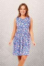 Audrey Cotton Dress Sakura Print