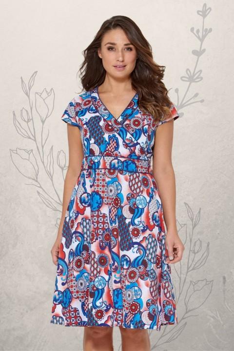 Astrid Cotton Wrap Dress - Kyoto Print