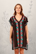 Bali Poncho with Embroidery