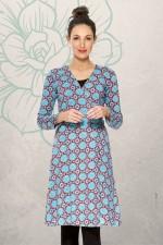 Sunburst L/S Wrap Dress - Earth Print
