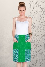 Trish A line Cotton Skirt - Mozaic Print