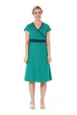 Leela Cotton Wrap Dress - Laxmi Print
