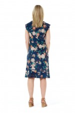 Cassy Cotton Braid Dress - Maya Print