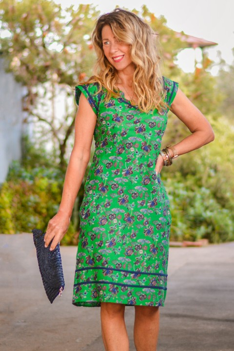 Cassy Cotton Braid Dress - Jardin Print