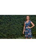 Cassy Cotton Braid Dress - Maya Print
