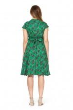Astrid Cotton Wrap Dress - Jardin Print