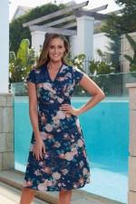 Leela Cotton Wrap Dress - Maya Print