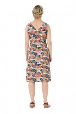 Betty Dress with pockets - Japanese Meadow Print