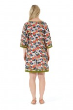 New Connie L/S Dress - Japanese Meadow Print