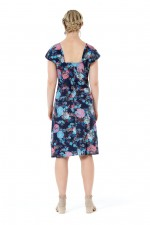 Rita Cotton Dress - Flores Print