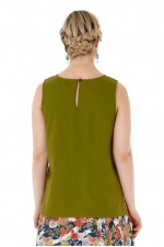Marti Cotton Top - Army Green
