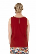 Marti Cotton Top - Maroon