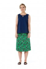 New Dita Cotton Reversible Skirt – Jardin & Japanese Meadow Prints