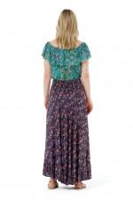 Gigi Frill Skirt -Navy Flower Print