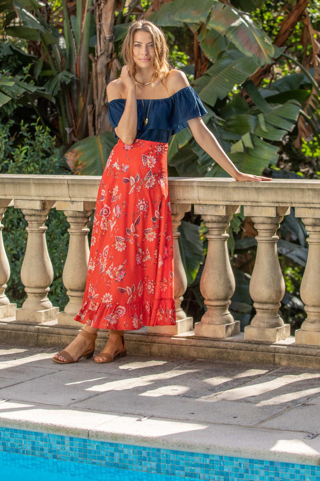 Gigi Frill Skirt - Lorne Print