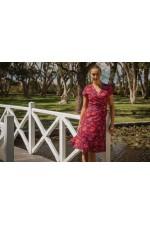 Astrid Cotton Wrap Dress - Batik Print