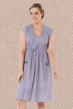 Chrissie Cotton Tunic - Cloud Print