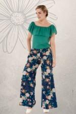 Sarita Cotton Pants - Maya Print