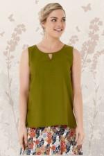 Marti Cotton Top - Army Green