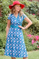 Leela Cotton Wrap Dress - Yoko Print
