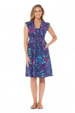 Chrissie Cotton Tunic - Berry Print