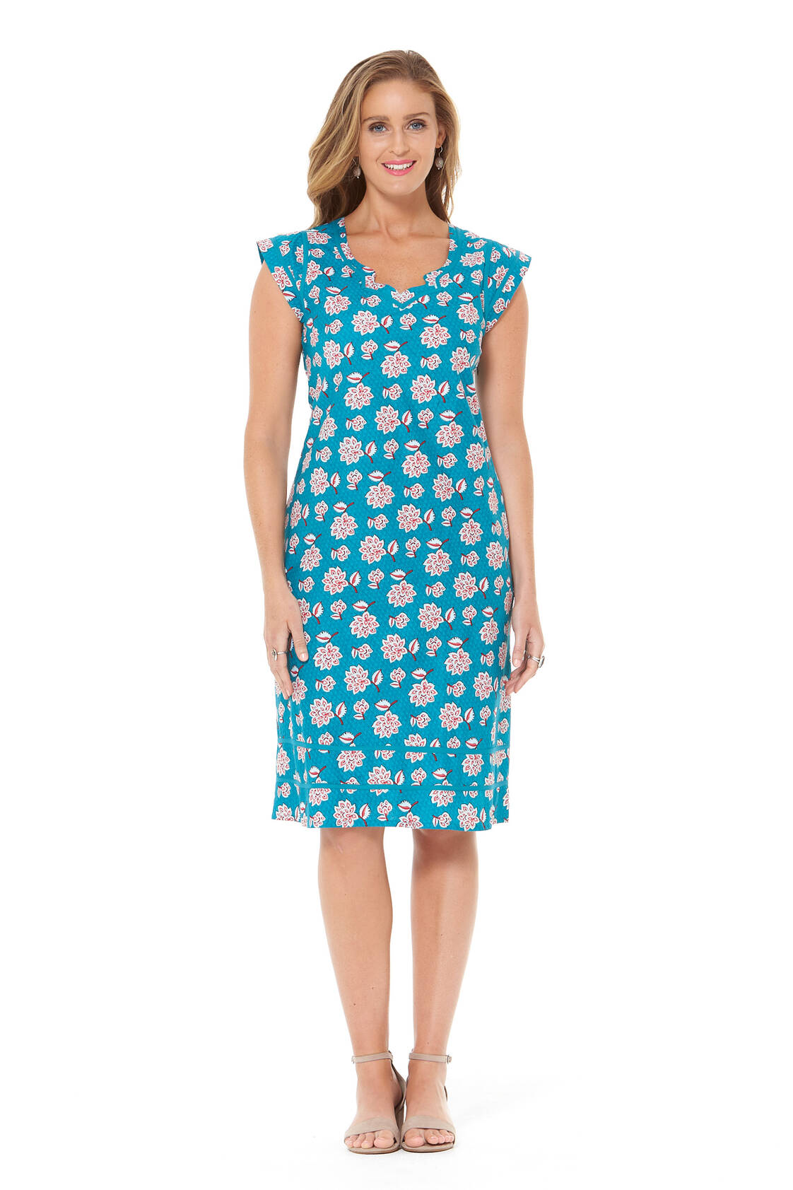 Cassy Cotton Braid Dress - Yoko Print