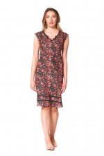 Cassy Cotton Braid Dress - Naples Print