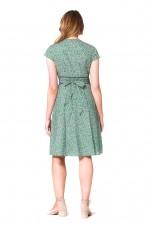 Astrid Cotton Wrap Dress - Lisbon Print