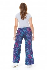 Sarita Cotton Pants - Berry Print