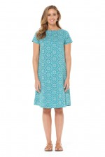 Amber Reversible Cotton Voile Dress - Berry & Sky Prints