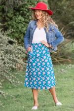 Melitta A-Line Cotton Skirt - Yoko Print