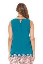Martine Cotton Top - Teal
