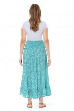 Gigi Frill Skirt - Sky Print