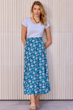 Grace Long Cotton Wrap Skirt - Yoko Print