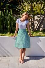 Beth Cotton Wrap Skirt – Lisbon Print