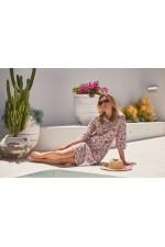 Lottie Long Cotton Kurta - Summer Print