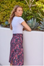 Melitta A-Line Cotton Skirt - Naples Print