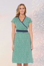 Leela Cotton Wrap Dress - Lisbon Print