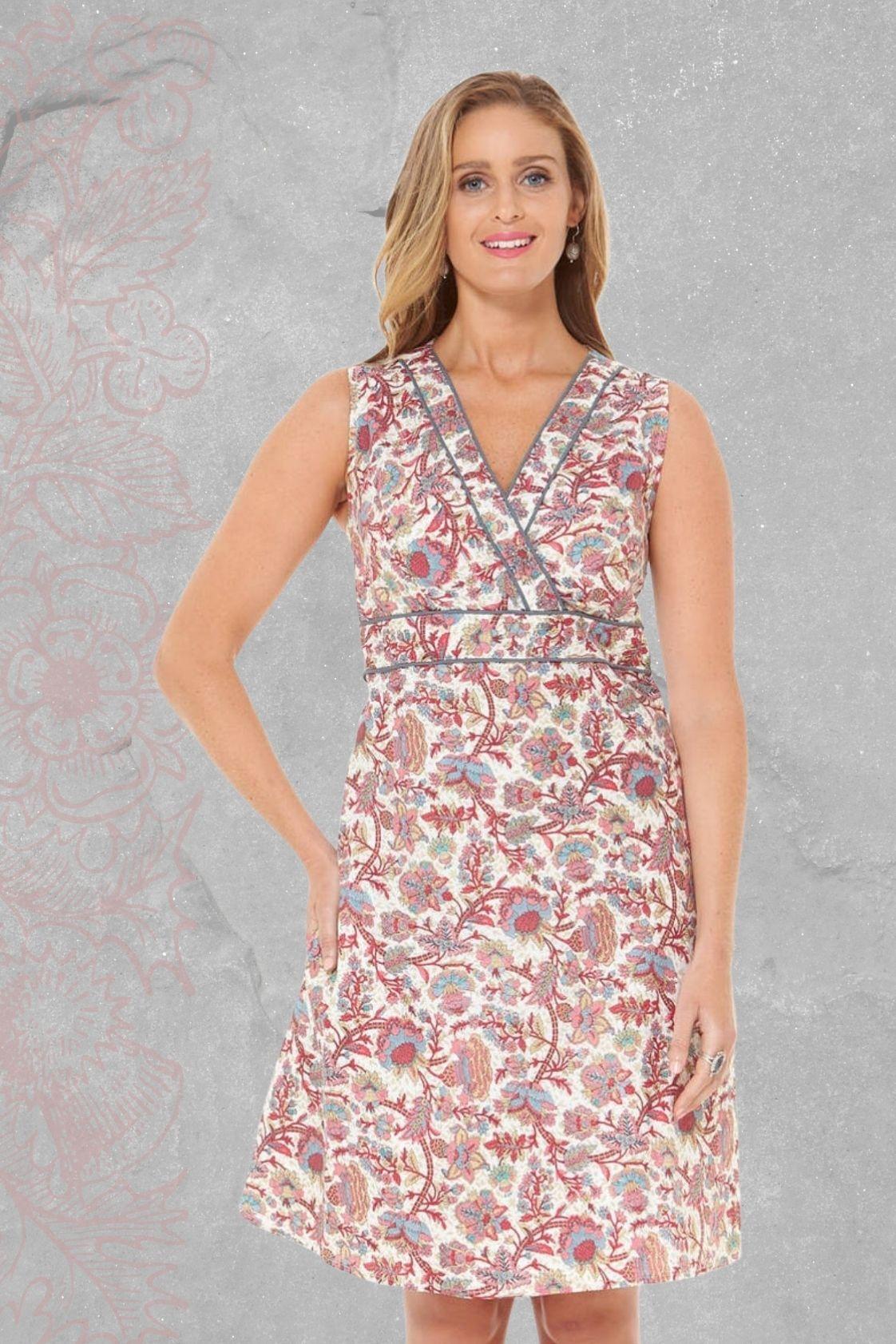 New Jaya Cotton Dress - Summer Print