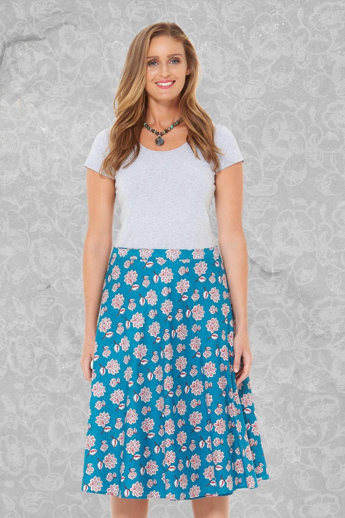 Beth Cotton Wrap Skirt – Yoko Print