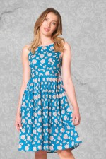 Jude Cotton 50's A-Line Dress - Yoko Print