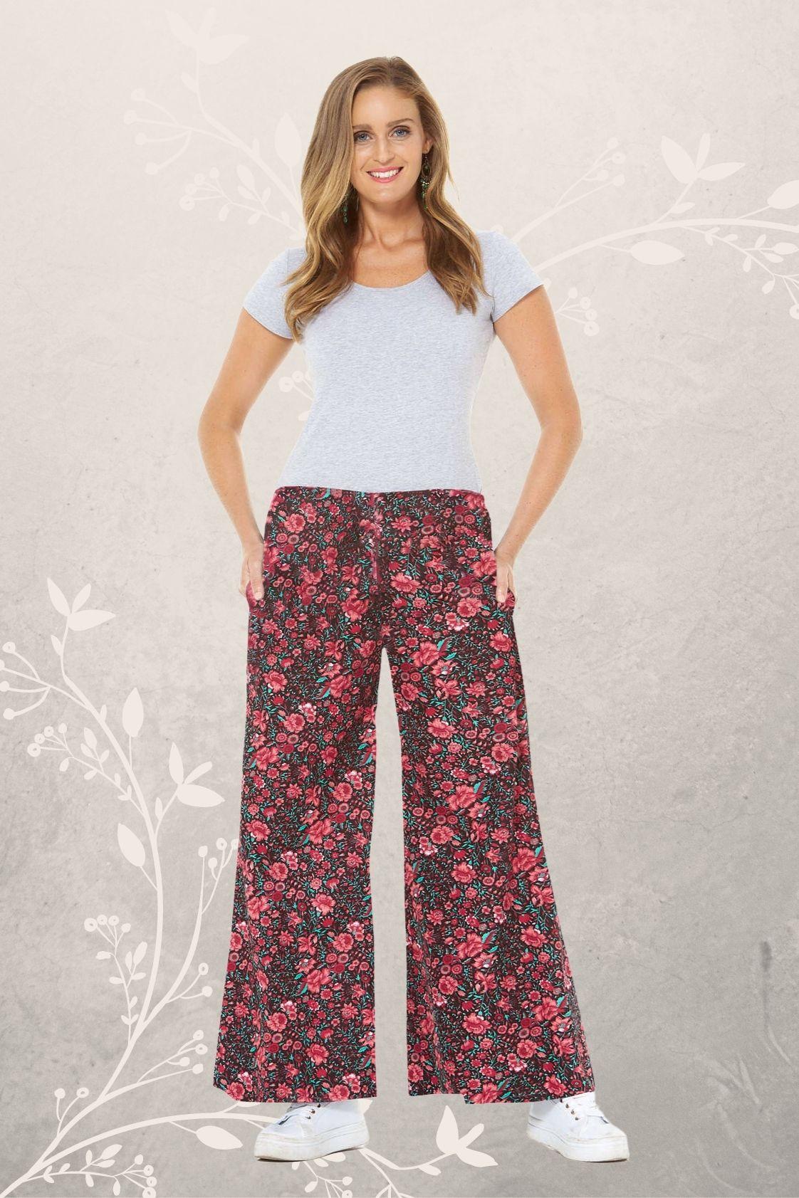 Sarita Cotton Pants - Naples Print
