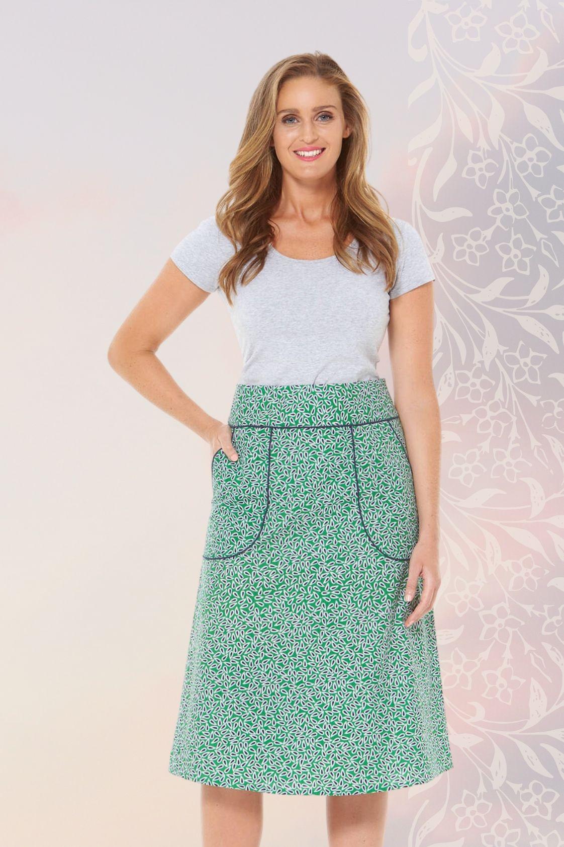 Melitta A-Line Cotton Skirt - Lisbon Print